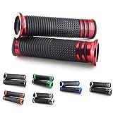 Universal Motorrad Roller Lenker Griffe Griffgummis 22 + 24-25mm Innendurchmesser, verschiedene Farben (Rot)