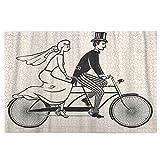 Puzzles für Erwachsene 1000 Teile Braut und Bräutigam Reiten eines Vintage Tandem Fahrrad Schwieriges Puzzle-Spiel-Set für junge Erwachsene