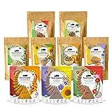 AHO Kennenlern Paket   Mit allen AHO Produkten zum Probieren   9 Tüten = 1,1kg   Bio, Vegan und Plastikfrei