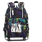 CQW Die Walking Dead USB Camouflage wiederaufladbare Rucksack mit großer Kapazität Outdoor Klettertasche Klassenzimmer Schultasche Reise Computer Tasche (20)