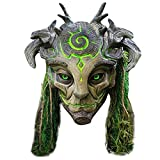 HeiHeiDa Halloween Maske, Grüner Wald Elf Latexmaske, Erwachsene Halloween Cosplay Kostümmaske, realistisches Kostüm voller Kopfbedeckung Kopfbedeckung Maskerade