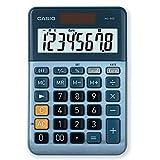 CASIO Tischrechner MS-80E, 8-stellig, Währungsumrechnung, Aluminiumfront, Schnellkorrekturtaste, Solar-/Batteriebetrieb
