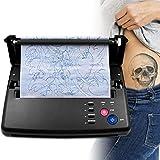 4YANG Tattoo Transfer Maschine, Thermische Schablonenkopier-Druckmaschine, Thermodrucker Tattoo Maschine mit 10 Stück Thermotransferpapier selbst Carbon Thermal