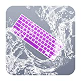 Keyboard Cover Skin kompatibel für MacBook 13 Zoll Unibody/Old für MacBook Pro 13 Zoll 15 Zoll 17 Zoll Old für MacBook Air 13 Zoll / 33 cm, für iMac Wireless Keyboard-Purple