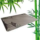 ACUIPP Corridor Carpet Runner Rug Bambusmatte Natürliche Rattanmatte Sommermatte Bambusgeflochtener Teppich Cool Pad Atmungsaktiv Rutschfeste Rückseite Sondergröße, Dicke 15 Mm,B,0.5M * 2M