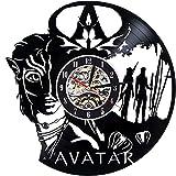 Levescale Avatar Vinyl-Wanduhr Fantasy Film für Jungen oder Mädchen – Dekoration für Wohnzimmer, Schlafzimmer, Kino – Govinda Pandora Film