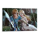 ZHENGDONG Spielposter Zelda Princess Link Zelda 2, Leinwand-Kunst-Poster und Wandkunstdruck, modernes Familienschlafzimmer, 20 x 30 cm
