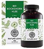 NATURE LOVE® Bio Bockshornklee - 240 vegane Kapseln - Hochdosiert mit 2600mg (650mg je Kapsel) - Laborgeprüft und frei von unerwünschten Zusätzen - zertifiziert Bio - in Deutschland produziert