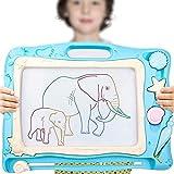 YAWJ Magnetische Maltafel für Kinder, Reisegröße Magnettafel Zaubertafel Zaubermaltafel Zeichentafel Zeichenbrett mit 3 Magnetische Stempel und Magnetschreibstift Kindergeschenk (Color : Skybule)