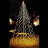 Multistore 2002 Fahnenmast Lichterkette - 360 LED`s, 10 Stränge a 8m, warmweisses Licht - Fahnenstangen Beleuchtung Weihnachtsdekoration Weihnachtsbaumbeleuchtung