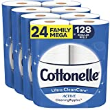Cottonelle Ultra CleanCare Toilet Paper, 24 Family Mega Rolls