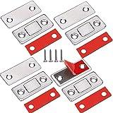 Tür Magnete für Schranktüren Jiayi 4 Stück Magnetschnäpper Türmagnete Selbstklebend für Möbel Stark Schubladen Magnetverschluss Schrank Magnet Türschließer Möbelmagneten Moebel Schubladenmagnet