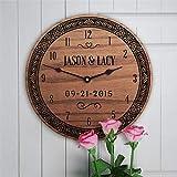 Wanduhr aus Holz, batteriebetrieben, Heimdekoration