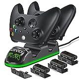 OIVO Controller Ladestation mit 3 Wiederaufladbaren Akku für Xbox One/Xbox Series X/S, Xbox Controller Ladestation, Xbox Controller Akku 3x1300mAh (Xbox Series X & S/Xbox One)
