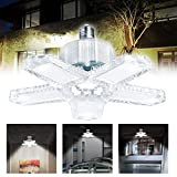 LED-Garagenbeleuchtung, 100 W-10000 lm, verformbar, 6500 K Tageslicht, Garagen-Deckenleuchten mit 5 verstellbaren Kunststoffpaneelen für Garage, Keller, Lager, Scheune, Weiß (1 Stück)