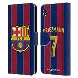 Head Case Designs Offiziell Zugelassen FC Barcelona Antoine Griezmann 2020/21 Spieler Home Kit Gruppe 1 Leder Brieftaschen Handyhülle Hülle Huelle kompatibel mit Sony Xperia M4 Aqua