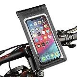 Inroserm Fahrrad Rahmentasche Wasserdicht, Fahrrad & Motorrad Handyhalterung mit TPU-Touchscreen und 360° Drehung, Fahrradlenkertasche für Handy unter 6.5 Zoll