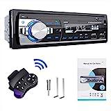 RDS Autoradio Bluetooth Freisprecheinrichtung, Lifelf Radio Stereo 4 x 65W 1 DIN Autoradio-Empfänger mit MP3-Player WMA FM Fernbedienung, Zwei USB-Anschlüsse, Unterstützung für iOS, Android