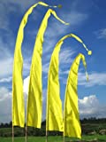 Bali-Fahne, Polyester, gelb, 3 Meter