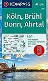 KV WK 758 Köln, Brühl, Bonn, Ahrtal: 4in1 Wanderkarte 1:50000 mit Aktiv Guide und Detailkarten inklusive Karte zur offline Verwendung in der ... (KOMPASS-Wanderkarten, Band 758)