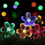 Solarlicht 7M Solar Gartenleuchten LED Lichterkette Außenbeleuchtung Blumengirlande für die Street Lawn Patio Decoration Girlande