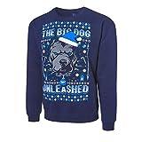 WWE AUTHENTIC WEAR Roman Reigns The Big Dog Unleashed Ugly Holiday Sweatshirt Multi 2XL
