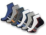 6 oder 12 Paar SPORT Sneaker Socken Herren Damen Sportsocken Frotteesohle Baumwolle 16215/20 (39-42, 6 Paar)