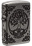 Zippo Tree of Life - Flower of Life - 29670 - Choice Collection 2018-60004303 - Suggested Retail: Euro 139,95, Silber, Small