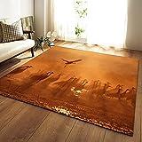 NHhuai Wohnzimmer Esszimmer Schlafzimmer Flur Läufer   Kreative Feldlandschaft rutschfest geeignet für Wohn- und Schlafzimmer