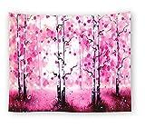 KHKJ Foggy Forest Tapisserie Kopfteil Wandkunst Tagesdecke Wohnheim Tapisserie für Wohnzimmer Schlafzimmer HomeDecor A6 150x130cm