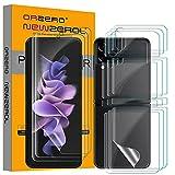 NEWZEROL 3 Sätze Folie kompatibel für Samsung Galaxy Z Flip 3 5G Displayschutzfolie + Rückenschutzfolie [Maximale Abdeckung] [Kratzbeständig] [Blasenfrei] TPU 3D Anti-Kratzer Displayschutz