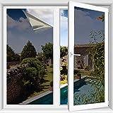 TTMOW Fensterfolie Selbsthaftend Spiegelfolie Sonnenschutzfolie,Sichtschutz Glas-Tönung Aufkleber,Wärmeisolierung 99% UV-Schutz,Einwegspiegelfolie reflektiert Starkes Sonnenlicht