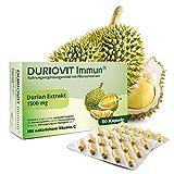 DURIOVIT Immun® - Extrakt aus der Durian-Frucht (1500 mg) - Unterstützt das Immunsystem durch 375 mg natürliches Vitamin C - 60 vegane Kapseln
