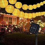 Solar Lichterkette Aussen, Yohencin 30 LED Laterne Lampions 6.3m Solar Lampions Außen Wetterfest 8 Modi Außer/Innen Lampions Solar Außen für Garten, Baum Weihnachten Dekoration
