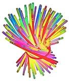 Set Arm Knicklichter 100 Stück Leuchtstäbe Knicklichter Hochzeit Armbänder Bunt Gemischt Knicklicht Verbinder Leuchtstab Party Leuchtarmbänder Glow Sticks