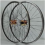 ZPPZYE MTB Radsatz 26 Zoll, Doppelwandig Aluminiumlegierung V-Bremse/Scheibenbremse Fahrradfelge Hybrid/Berg für 7/8/9/10/11 Speed (Farbe : Gold, Size : 26 inch)