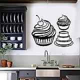 HFDHFH Wandtattoo Candy Muffin Cake Dessert Cremige Bäckerei Küche Home Decor Kühlschrank Vinyl Fenster Aufkleber Wandb