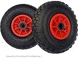Frosal 2 x Rad Bollerwagen   25 mm Achse  Ersatzrad Reifen Sackkarre   Ersatzreifen   Sackkarrenrad Luftreifen Rollenlager Kugellag