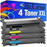 Tito-Express PlatinumSerie 4 Laser-Toner XXL passend zu Samsung CLT-404S CLT-404 Xpress C430 C480 C 482 SL-C430 SL-C480 W FN FW | Black 1.500, Color 1.000 Seiten Druckleistung!