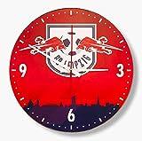 RB Leipzig Wanduhr - Skyline - Uhr rot-blau, Wall Clock RBL (L)