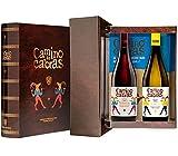 CAMINO DE CABRAS Weinkiste - Ribeiro D.O. Ribeiro Weißwein + Mencía Crianza D.O. Valdeorras Rotwein -Gourmet Produkt - Wein zum Verschenken - 2 Flaschen x 750 ml.