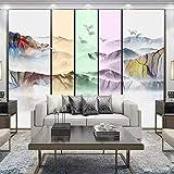 Fernsehhintergrund wall_living Raumsofa Fernsehhintergrundwand neue künstlerische Gewohnheit 3d der Landschaft der chinesischen Art Wandve fototapete 3d effekt tapete tapeten wald vintage-400cm×280cm