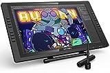 XP-PEN Artist 22E Pro HD IPS Grafikmonitor, Drawing Tablet 8192 Druckstufen mit 16 Schnellzugriffstasten, 2 aufladbare Stifte
