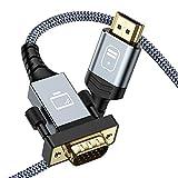 HDMI auf VGA Kabel 1,8M-Snowkids HDMI VGA Kabel Adapter Vergoldet &Aluminiumschale Konverter Nylon geflochten 1080P @60Hz Kompatibel für Computer,Desktop,Laptop,PC,Monitor,Projektor,HDTV