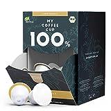 My Coffee Cup – MEGA BOX CAFFÈ VANILLA – BIO-KAFFEE I 100 Kaffeekapseln für Nespresso®³-Kapselmaschinen I 100% industriell kompostierbare Kaffeekapseln – 0% Alu I Nachhaltige Kaffeekapseln