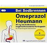 Omeprazol Heumann 20 mg Hartkapseln bei Sodbrennen, 14 St. Kapseln