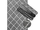 Teppich auf Maß | Malibu | Verschiedene Breiten |Teppichläufer Meterware |für Wohnzimmer, Flur, Büro, Schlafzimmer, Küche, Esszimmer gekettelt (200 x 400 cm)