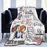 Grey's Anatomy Decke, super weiches Fleece, Überwurfdecke für Bettwäsche, Sofa, Schlafzimmer, Wohnzimmer, Dekoration, ca. 125 x 100 cm