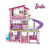 Barbie FHY73 Traumvilla Dreamhouse Adventures Puppenhaus mit 3 Etagen, 8 Zimmer, Pool mit Rutsche und Zubehör, ca. 116 cm hoch, mit Lichter und Geräuschen, Spielzeug ab 3 Jahren