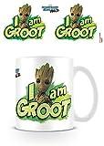 Marvel Comics Guardians of The Galaxy Vol. 2 I Am Groot Ceramic Mug Kaffeetassen, Keramik, Mehrfarbig, 7.9 x 11 x 9.3 cm